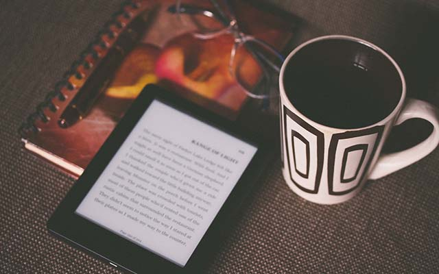 ספר דיגיטלי על מכשיר קינדל